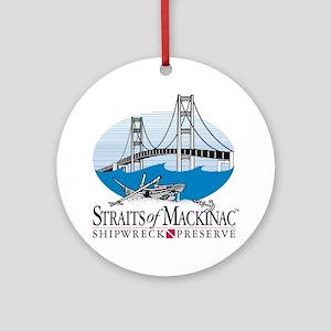 Mackinac Bridge logo Ornament (Round)
