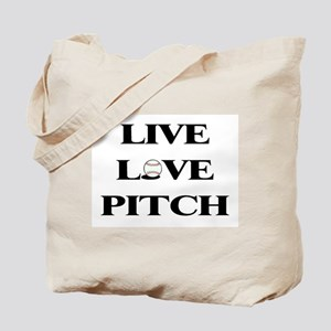 Live, Love, Pitch (Baseball) Tote Bag