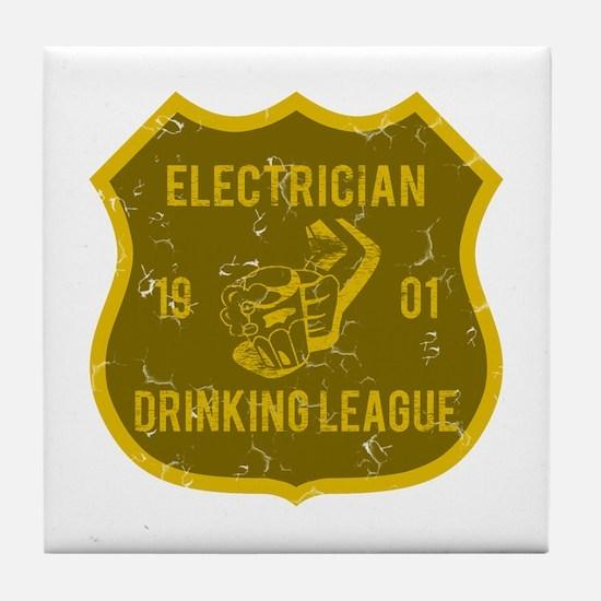 Electrician Drinking League Tile Coaster