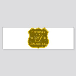 Electrician Drinking League Bumper Sticker