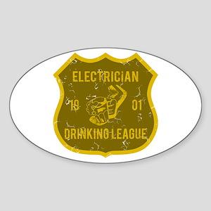 Electrician Drinking League Oval Sticker
