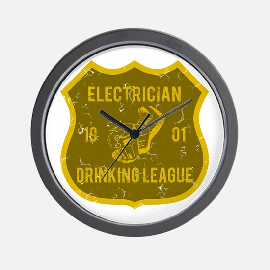 Electrician Drinking League Wall Clock