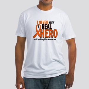 Never Knew A Hero 2 ORANGE (Daughter) Fitted T-Shi