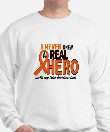 Never Knew A Real Hero 2 ORANGE Sweater