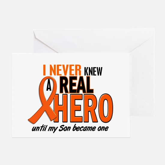 Never Knew A Real Hero 2 ORANGE Greeting Card