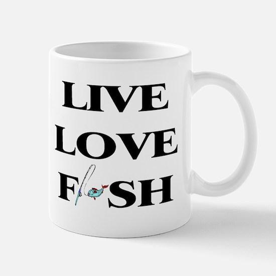 Live, Love, Fish Mug