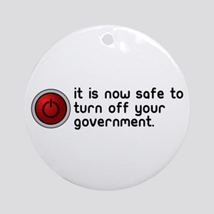 anti government Ornament (Round)