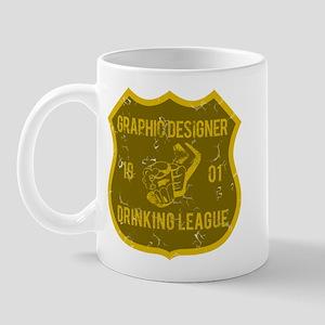 Graphic Designer Drinking League Mug