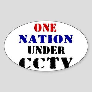 CCTV Oval Sticker