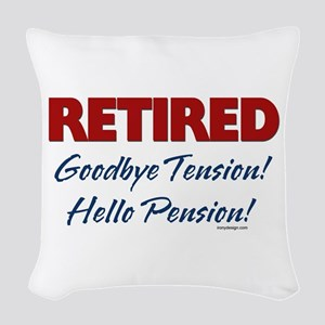Retired Goodbye Tension Woven Throw Pillow