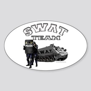 S.W.A.T. Team Oval Sticker