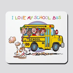 I Love My Schoolbus Mousepad