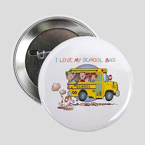 "I Love My Schoolbus 2.25"" Button"