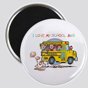 I Love My Schoolbus Magnet
