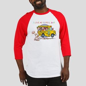 I Love My Schoolbus Baseball Jersey