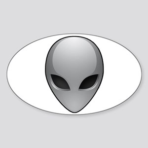 UFO Alien Oval Sticker