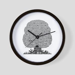 Heavy Metal Wall Clock