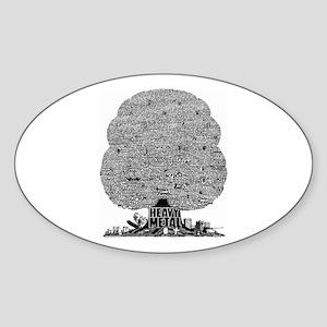 Heavy Metal Oval Sticker
