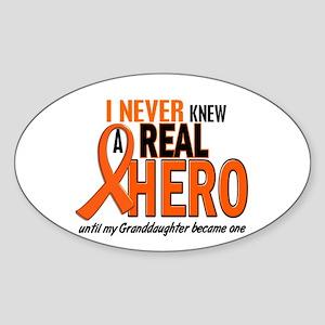 Never Knew A Hero 2 ORANGE (Granddaughter) Sticker