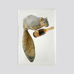 Squirrel Champagne Rectangle Magnet