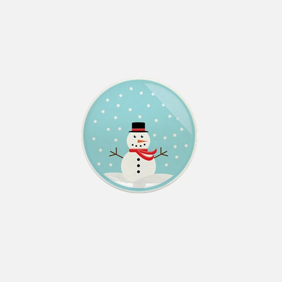 Snowman in a Snow Globe Mini Button
