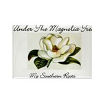 Under the Magnolia tree Rectangle Magnet