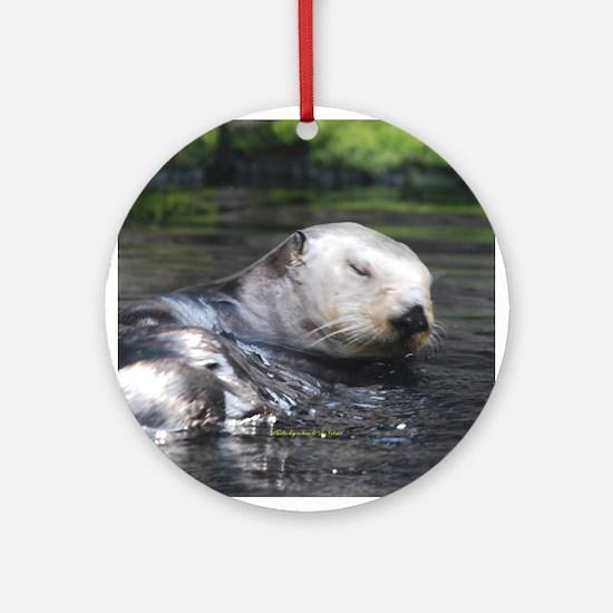 Otter 2 Ornament (Round)