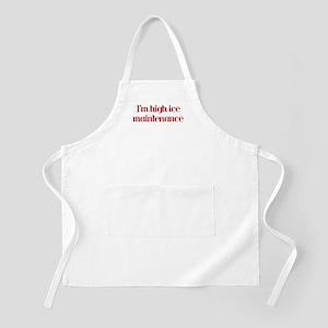 I'm high ice maintenance-red BBQ Apron