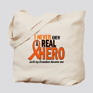 Never Knew A Hero 2 ORANGE (Grandson) Tote Bag