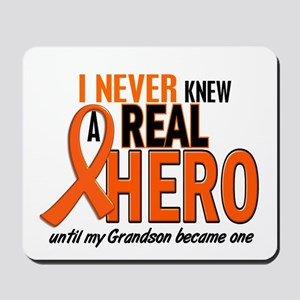 Never Knew A Hero 2 ORANGE (Grandson) Mousepad