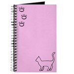 Pink Paws Cat Journal