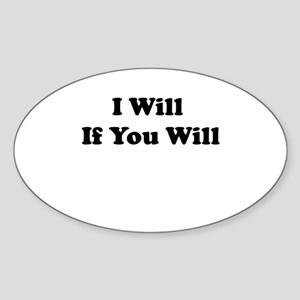 Willing and Able Oval Sticker
