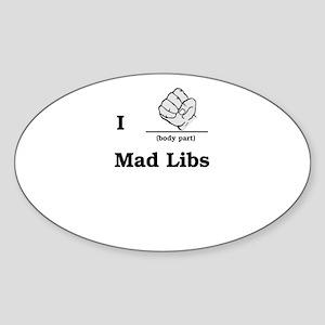 Mad Libs Rock Oval Sticker