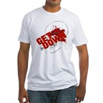 Get Down skull design Fitted T-Shirt