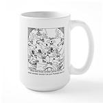 Reindeer Poker Games Large Mug