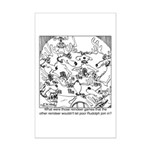 Reindeer Poker Games Mini Poster Print