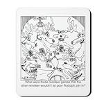 Reindeer Poker Games Mousepad