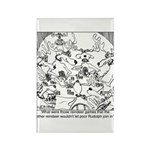 Reindeer Poker Games Rectangle Magnet (10 pack)