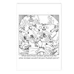 Reindeer Poker Games Postcards (Package of 8)