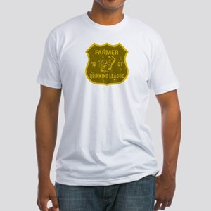 Farmer Drinking League Fitted T-Shirt