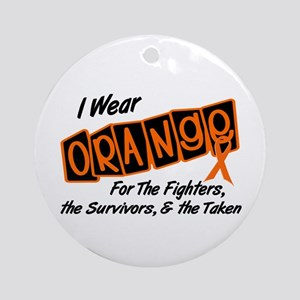 I Wear Orange For Fighters Survivors Taken 8 Ornam