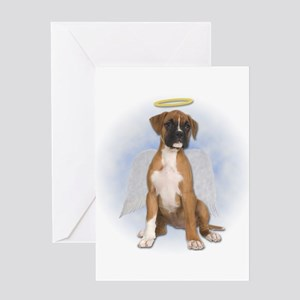 Angel Boxer Puppy Greeting Card
