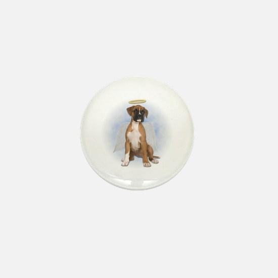 Angel Boxer Puppy Mini Button