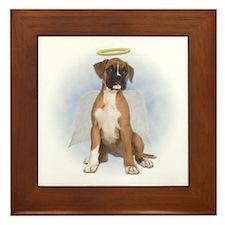 Angel Boxer Puppy Framed Tile