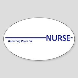 RN Stripes Oval Sticker