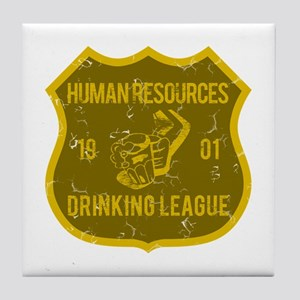 Human Resources Drinking League Tile Coaster