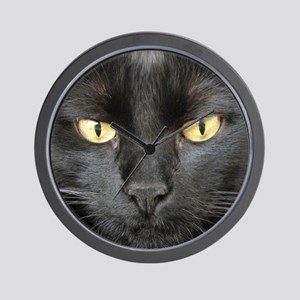 Dangerously Beautiful Black Cat Wall Clock
