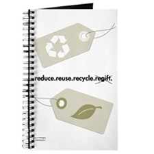 'recycle, don't regift' journal