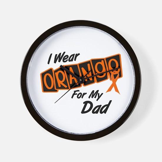 I Wear Orange For My Dad 8 Wall Clock