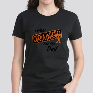 I Wear Orange For My Dad 8 Women's Dark T-Shirt